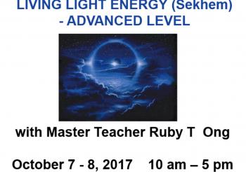 LIVING LIGHT ENERGY (Sekhem) – ADVANCED LEVEL October 7 – 8, 2017